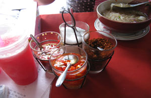 Thai table condiments