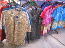 Aranyaprathet night market silk shirts