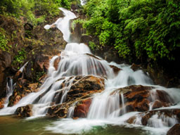Krating waterfall in Khao Kitchakut National Park