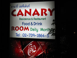 canary diner sign