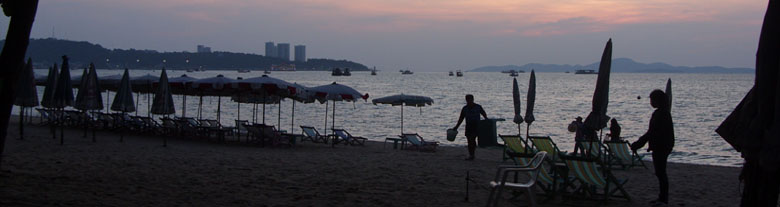 Pattaya beach sunset